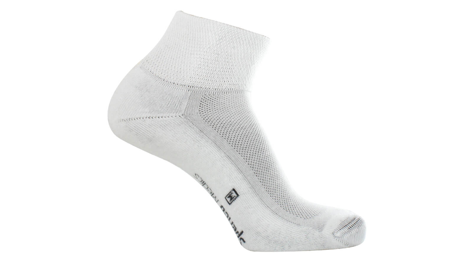 Spenco medics diabetic plus crew socks in white