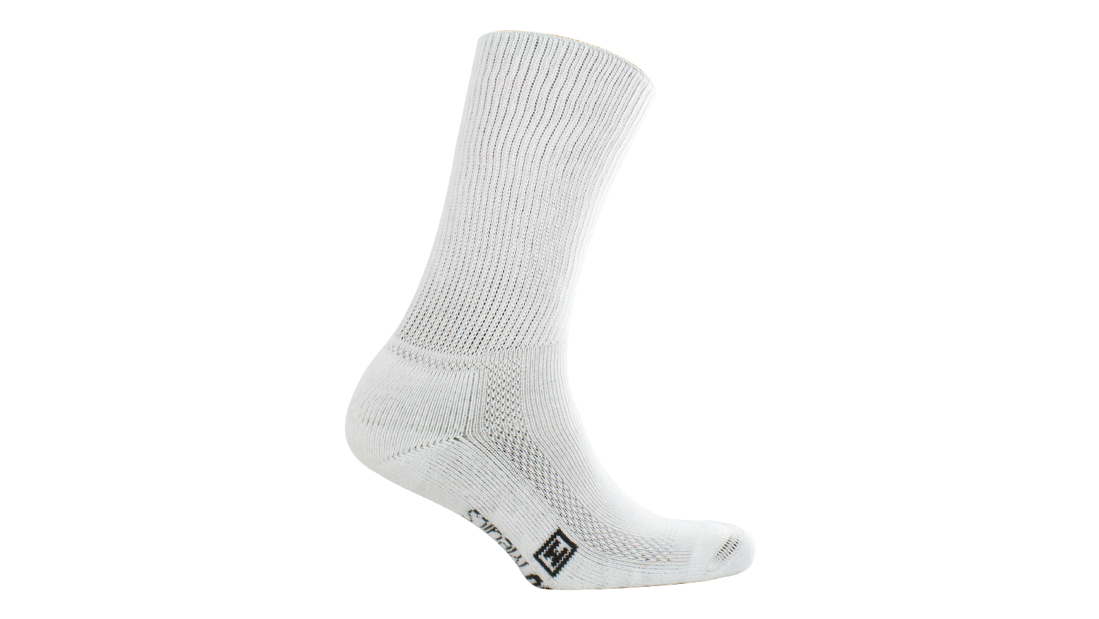Spenco medics diabetic plus soft rib quarter socks in white