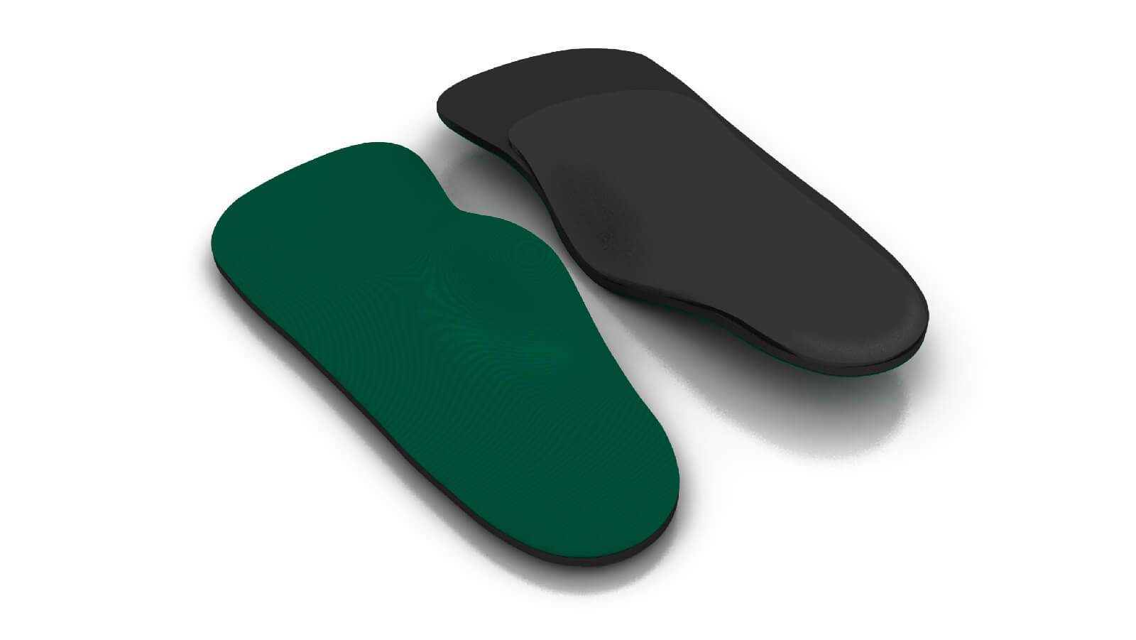 Top and bottom view of the Spenco rx three quarter length arch cushion orthotic insoles