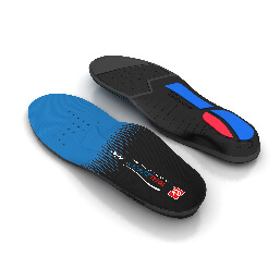 Top and bottom view of the Spenco total support max arch support insoles