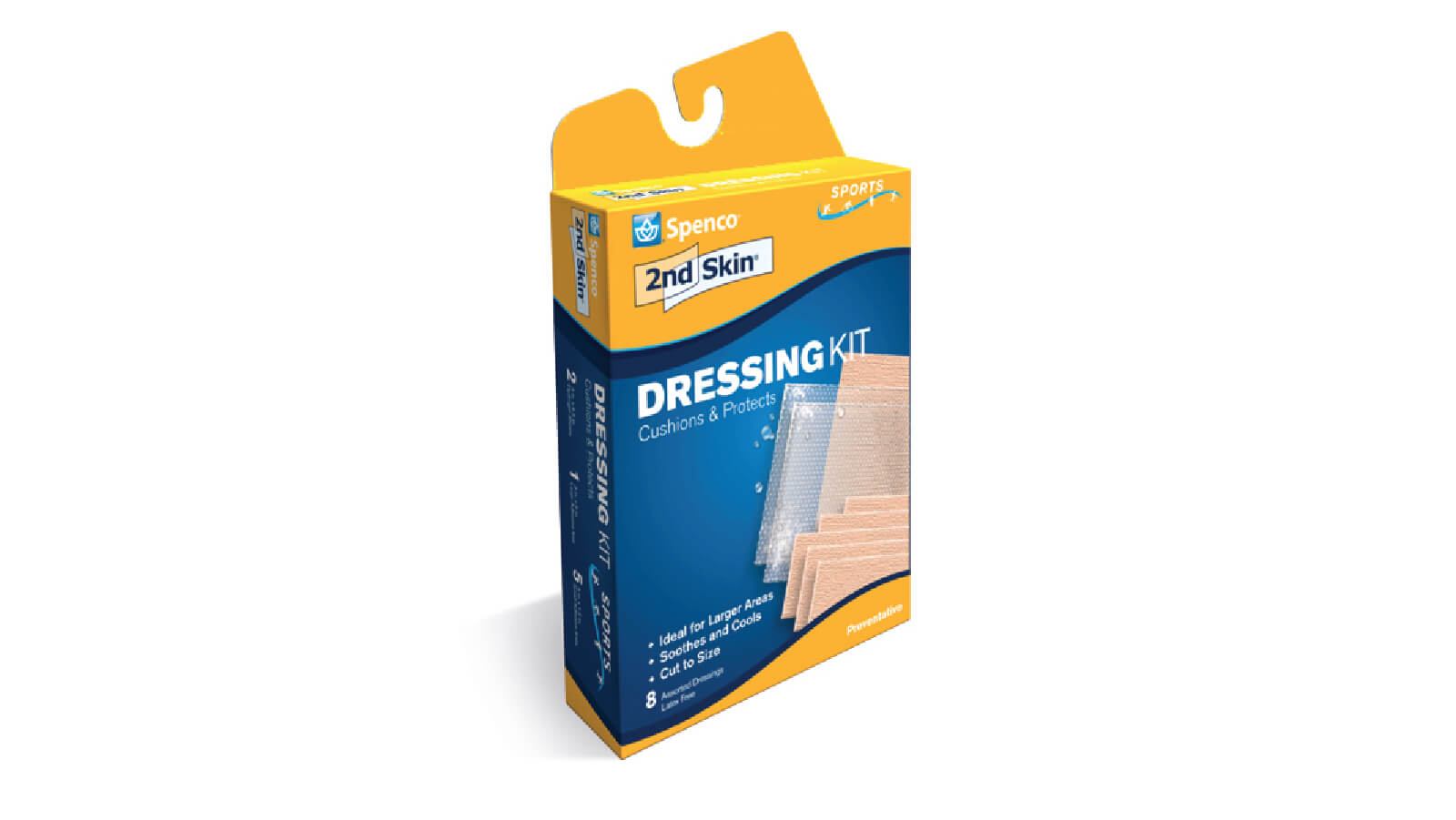 Spenco 2nd skin dressing kit bandages for blister protection in packaging