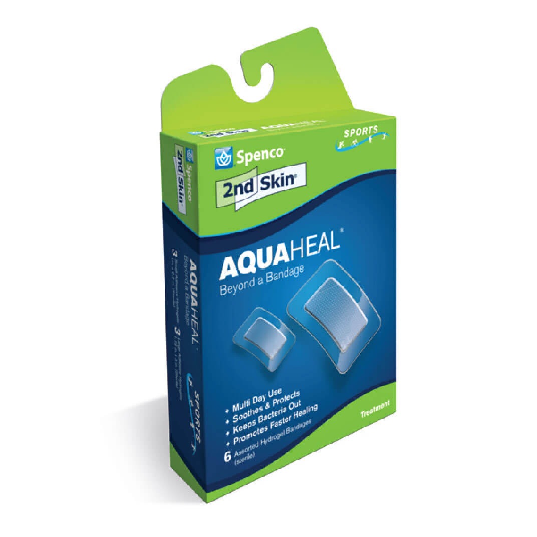 Spenco 2nd skin aqua heal burn bandages in packaging